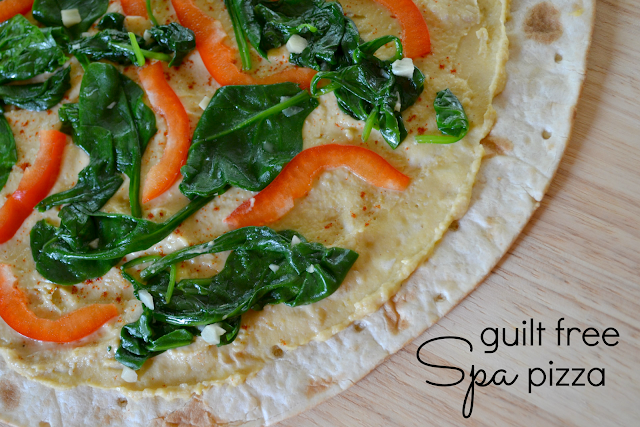 Mommy Testers Spa Pizza a Hummus Pizza with vegetables  #cbias