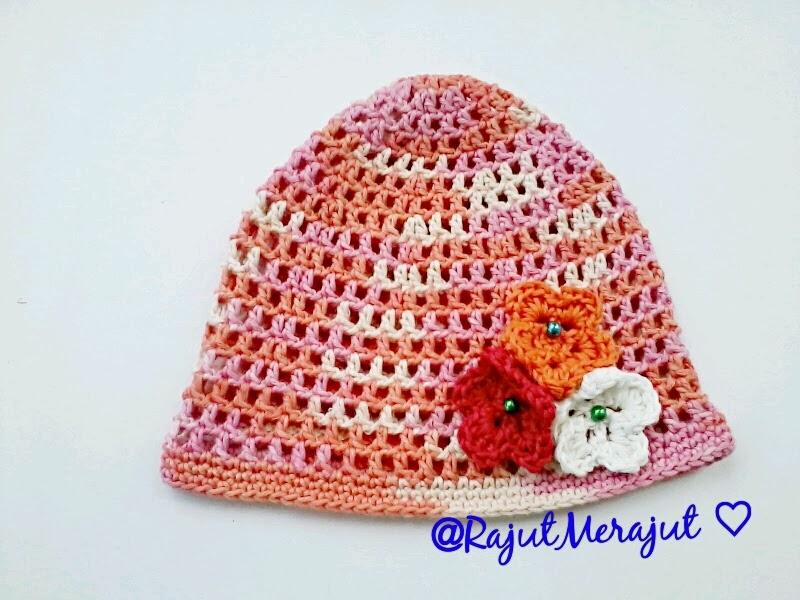 topi rajut bayi, topi rajut, topi bunga, topi bayi, topi rajutan, crochet hat, crochet cap, crochet flower hat, baby hat, crochet baby hat