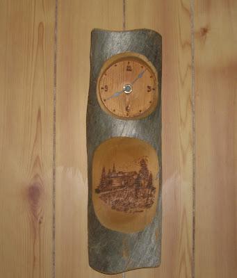 那須別荘 時計の設置