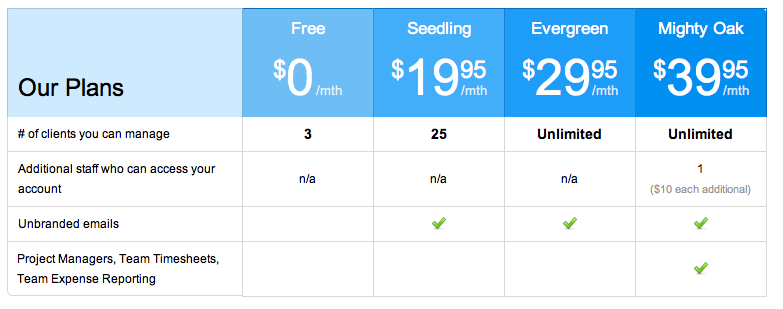 The angel vc 2013 for Saas pricing model template