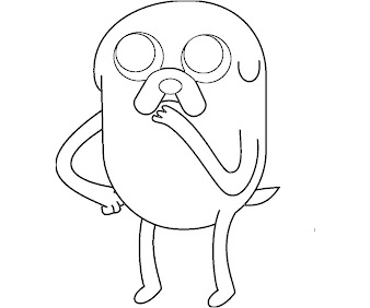 #3 Jake Coloring Page