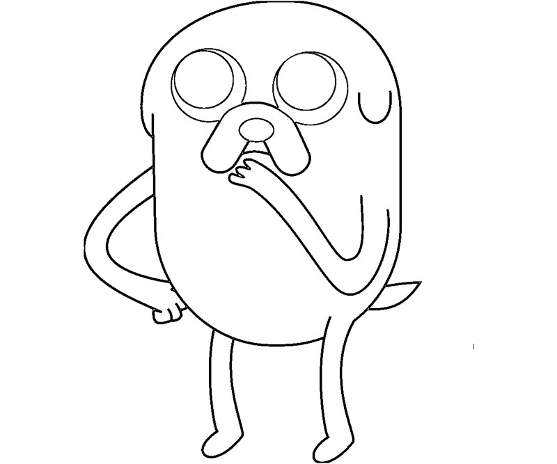 Printable Adventure Time - Jake 5 Coloring Page title=