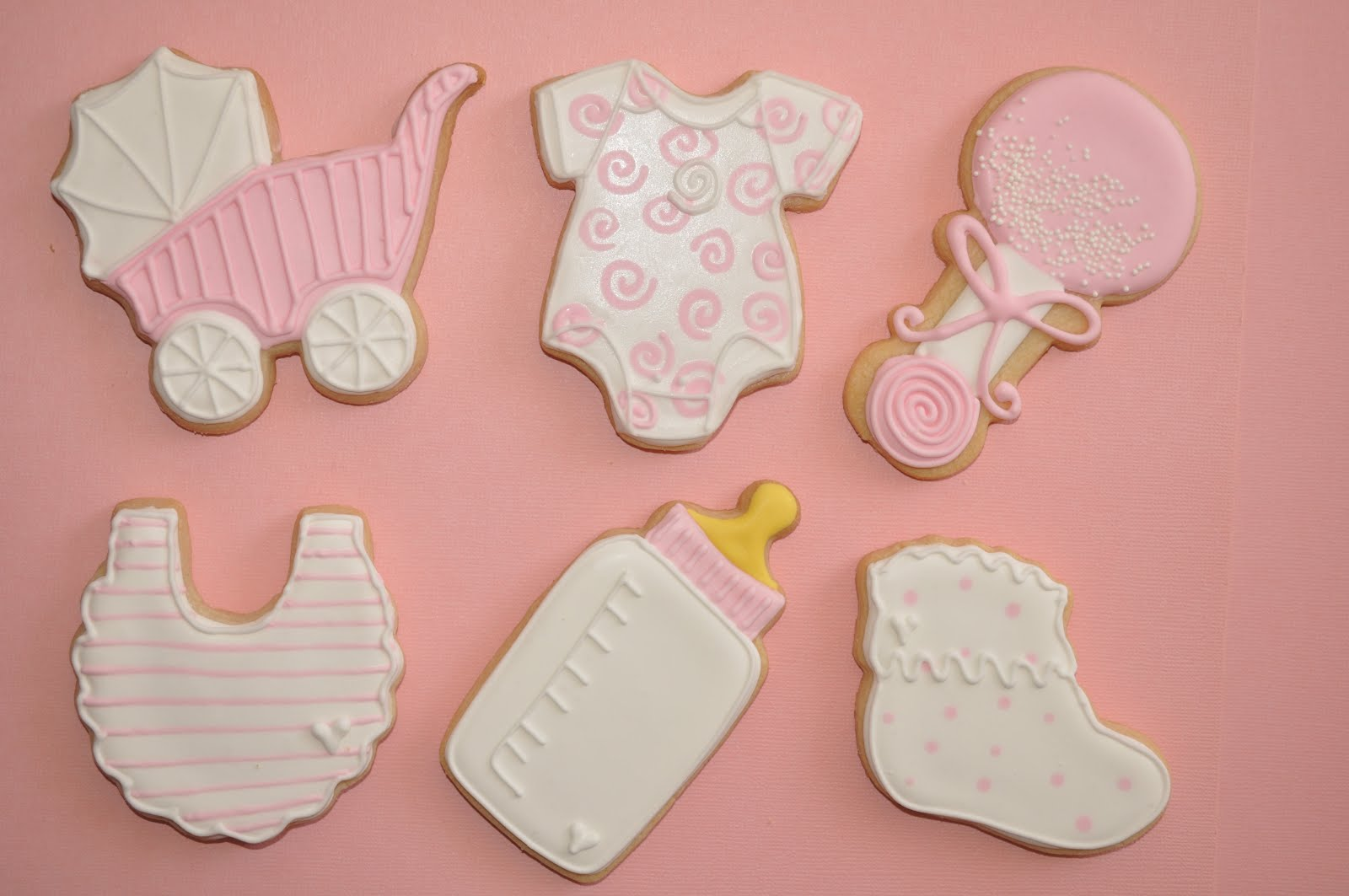 Baby Girl Shower Cookies Decorated With Royal Icing Suz Daily