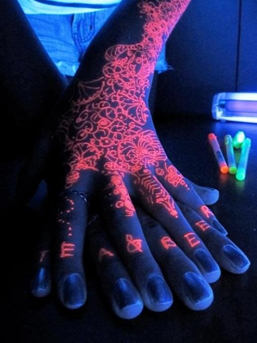 Tattoo UV mãos