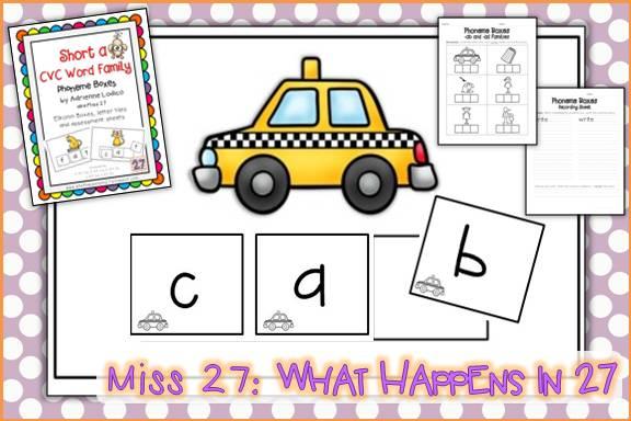 What Happens in 27 Elkonin Boxes for CVC Families – Elkonin Boxes Worksheet