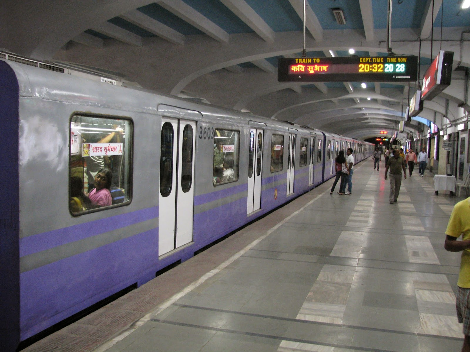 The Kolkata Metro helps commuters beat air pollution