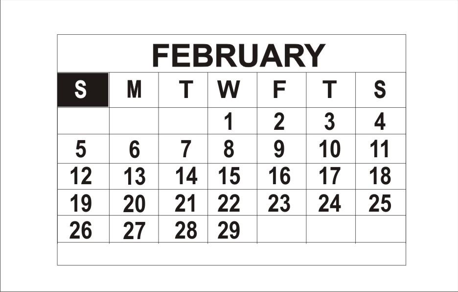 February 201 Calendar With Holidays | New Calendar Template Site