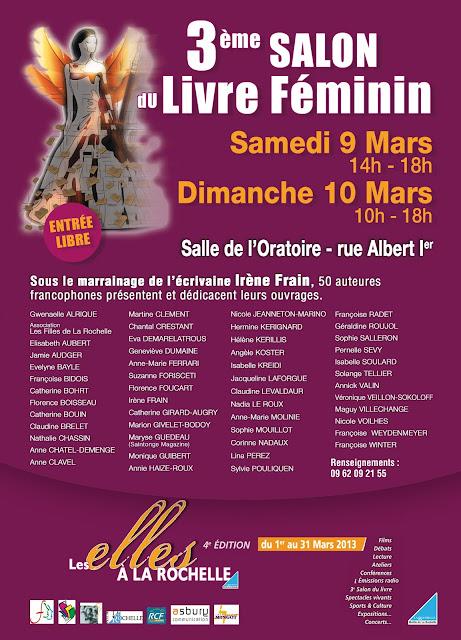 salon du livre f minin la rochelle 9 et 10 mars 2013