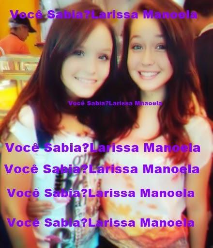 """Mharessa Fernanda foi escolhida para ser dublê de Larissa Manoela na novela  """"Cúmplices de um Resgate"""", quer dizer, quando tiver uma cena onde as gêmeas  ... fda60390c8"""