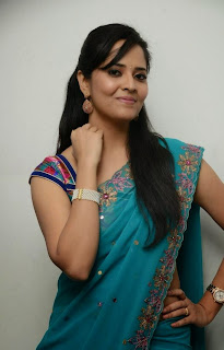 Anasuya Picture Gallery in Saree at Paddanandi Premalo Mari Movie Audio Launch ~ Celebs Next