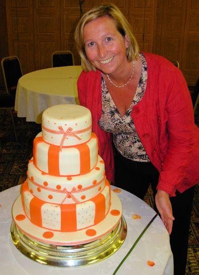 Orange Wedding Cakes With Accesories wedding cake decorated with orange