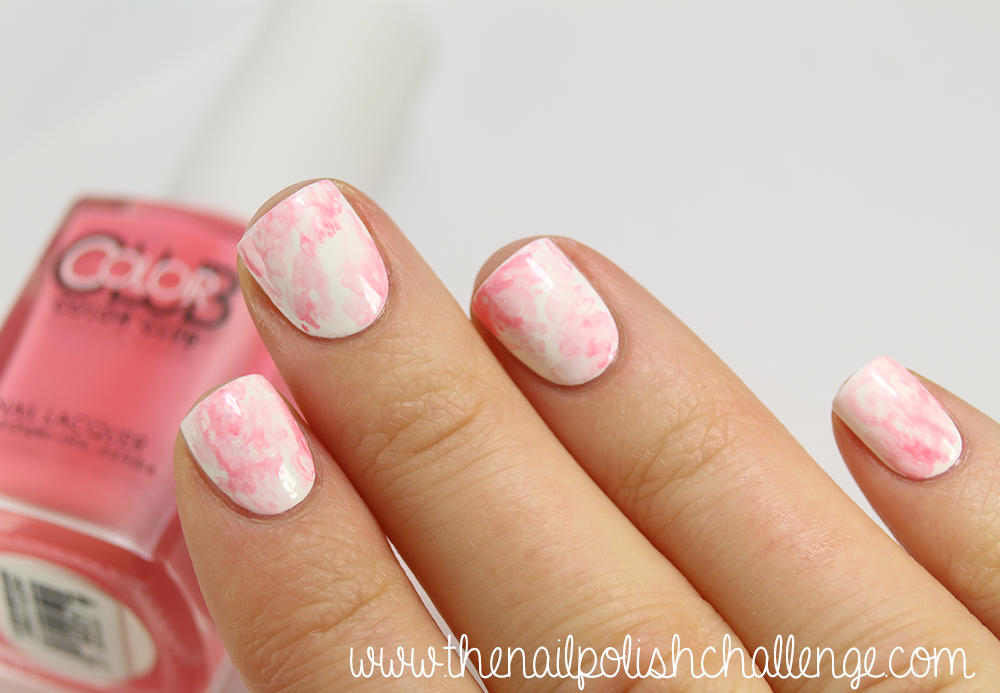 Pink marble watercolor nail art the nail polish challenge originally i planned on doing nail art over it but i just loved how elegant and springy it looked on its own prinsesfo Gallery