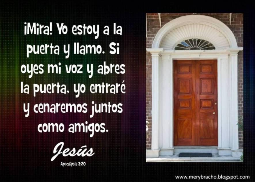 postales cristianas de Dios Jesús está tocando a tu puerta, he aqui yo estoy a la puerta y llamo