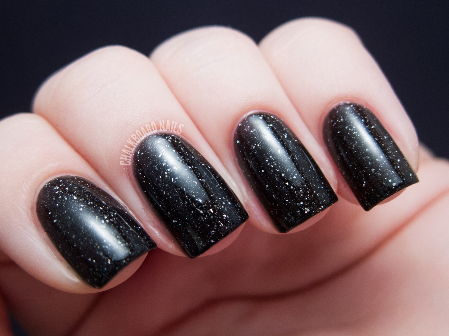 piCture pOlish Starry Night by Llarowe | Chalkboard Nails | Nail Art ...