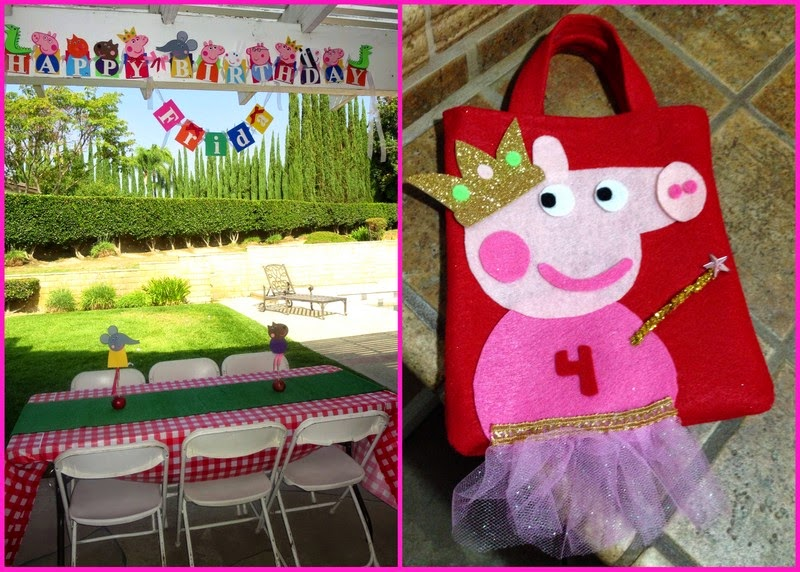 Peppa Pig Birthday Banner & Gift Bag