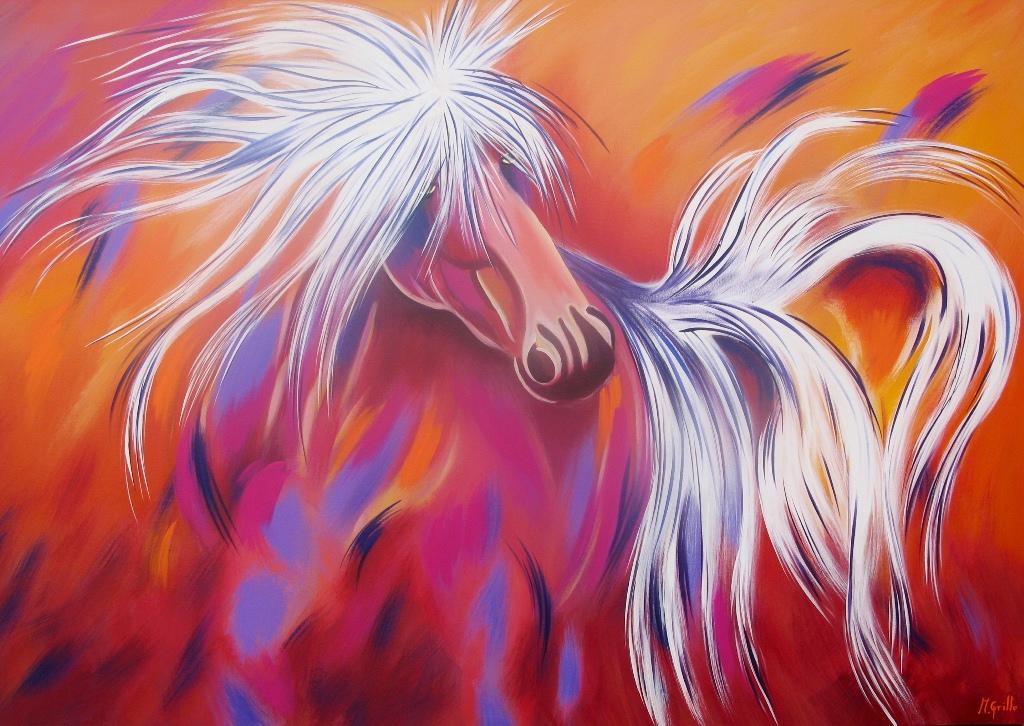 Cuadros pinturas oleos caballo moderno - Pinturas acrilicas modernas ...