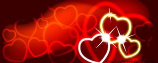 corazones rojos con fondo rojo