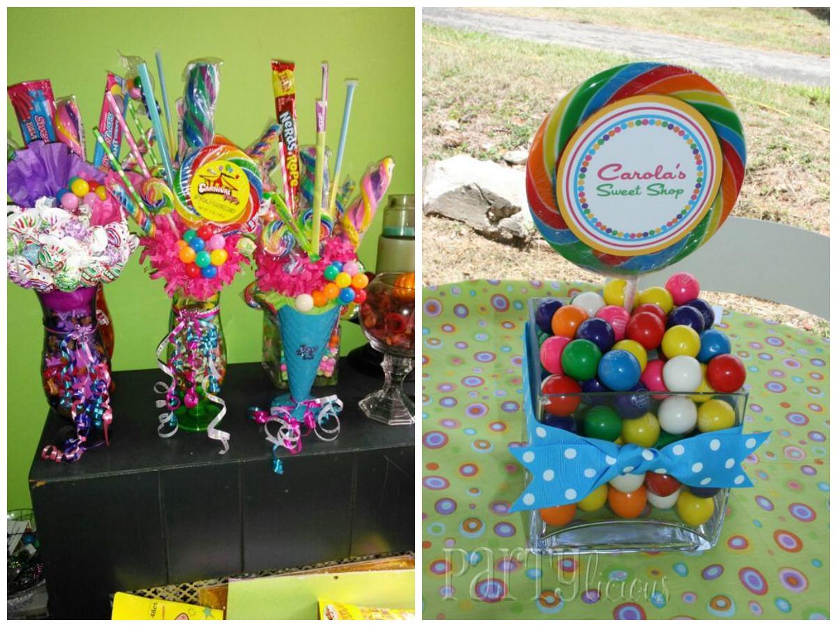3 usos para centros de mesa con jarrones y caramelos