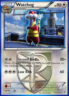 Watchog Plasma Storm Pokemon Card