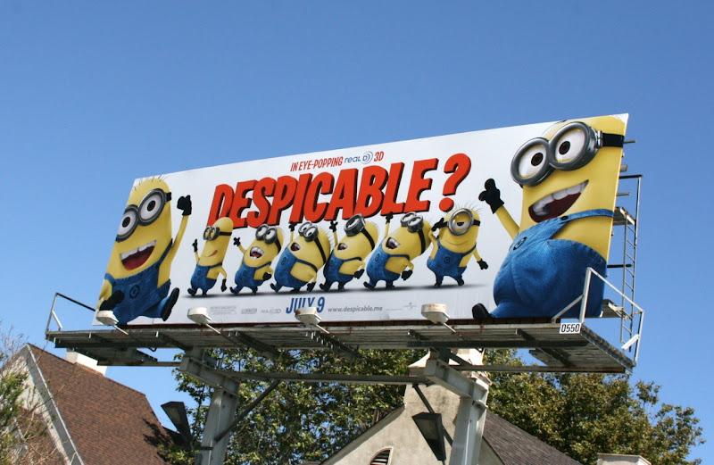Despicable Me movie billboard