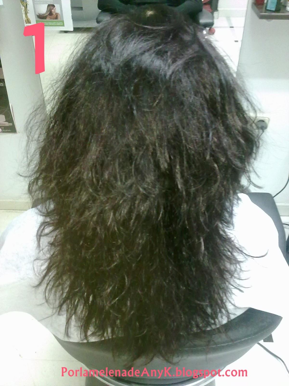 Keratina liquida para el pelo rizado