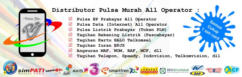 PULSAjitu.com : Distributor Pulsa Murah All Operator