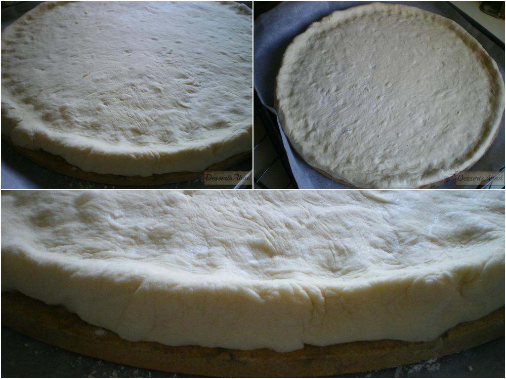 Pizza margherita (masa antes del horneado)