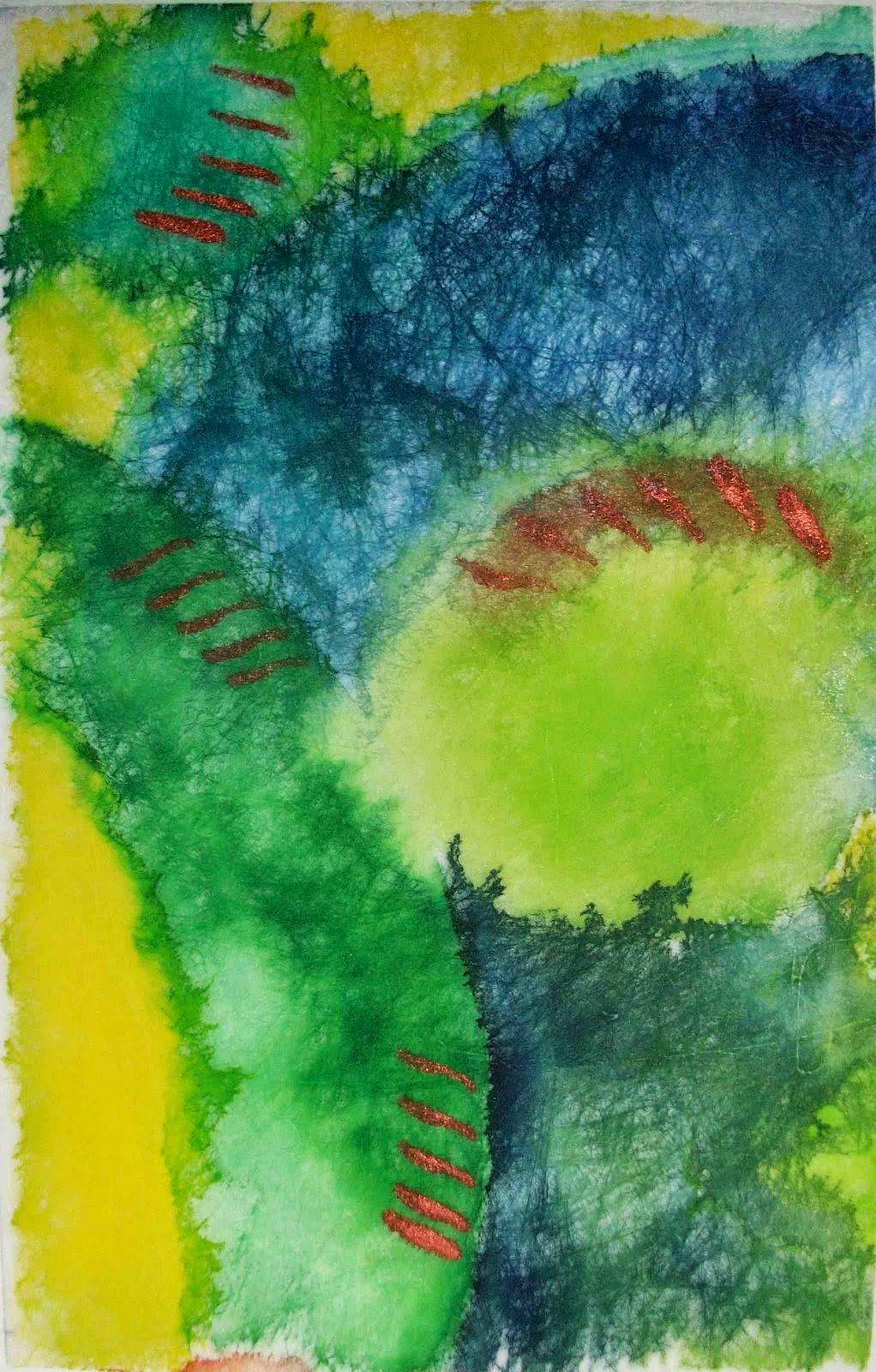 acrylic ink lutradur lisa fulmer