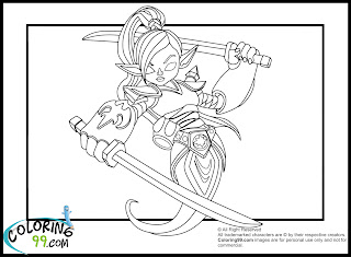 skylanders ninjini coloring pages
