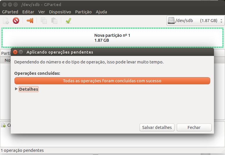 Como formatar um pen drive em NTFS no Linux Ubuntu