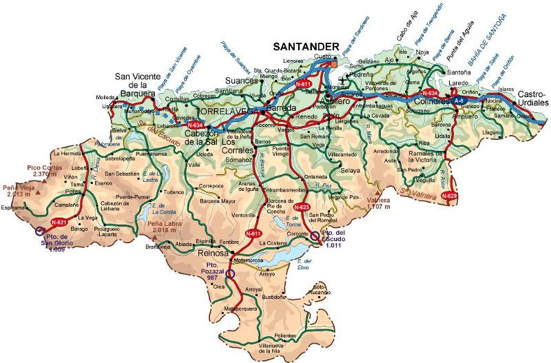 Cantabria Map Pictures And Information