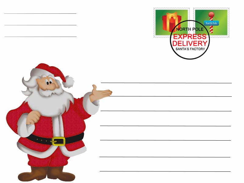 Postal Pai Natal 1