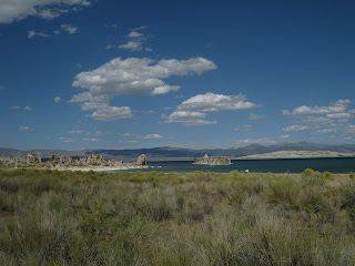Tufa formations in Mono Lake, California