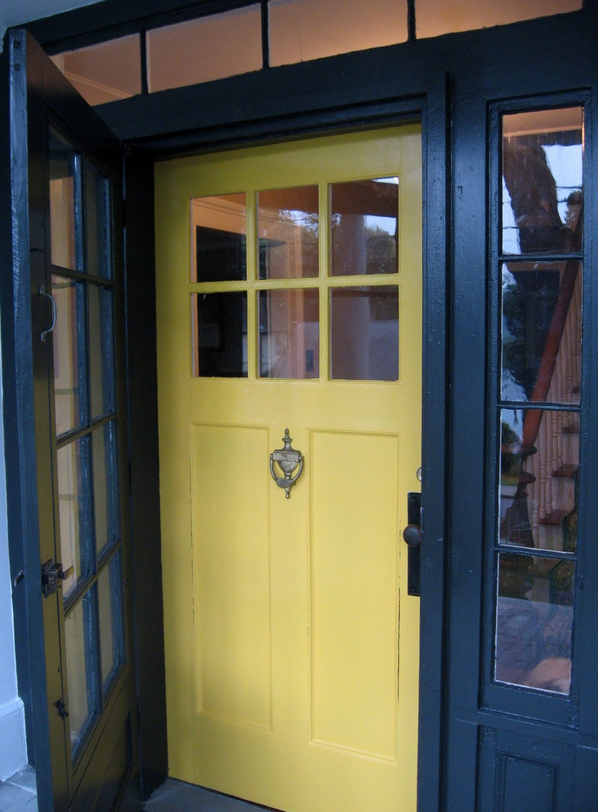 front door Benjamin Moore Imperial Yellow