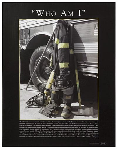 "Firefighter Print ""Who Am I?"""