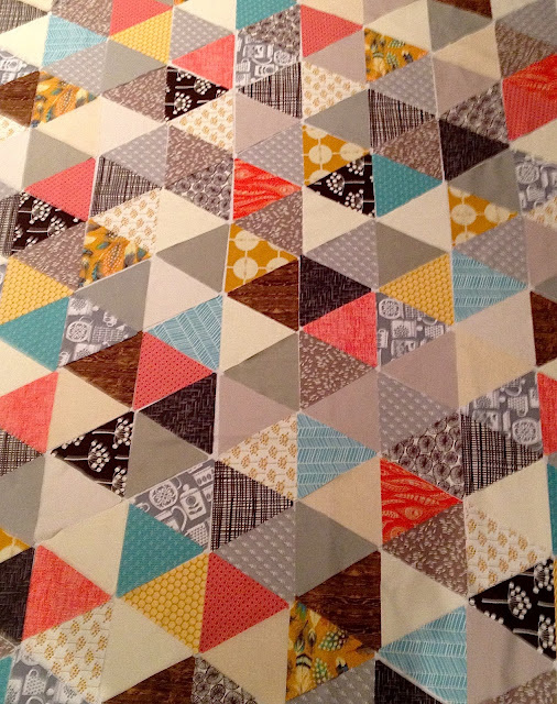 Sixty degree triangle quilt