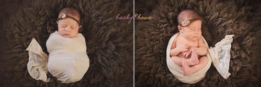 omaha newborn photographer photography girl pink sleeping posed