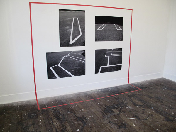 Karen Schifano - I'll take you there - foil tape and photographs (road line markings) - SNO 85