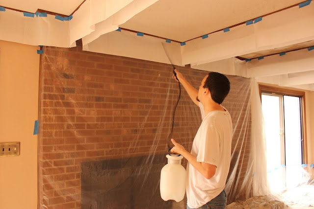 The handcrafted life how to remove popcorn ceilings for How to remove popcorn ceiling without water