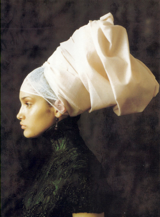 Infanta style editorial photographed by Paolo Roversi and styled by Alice Gentilucci for Vogue Italia September 1997