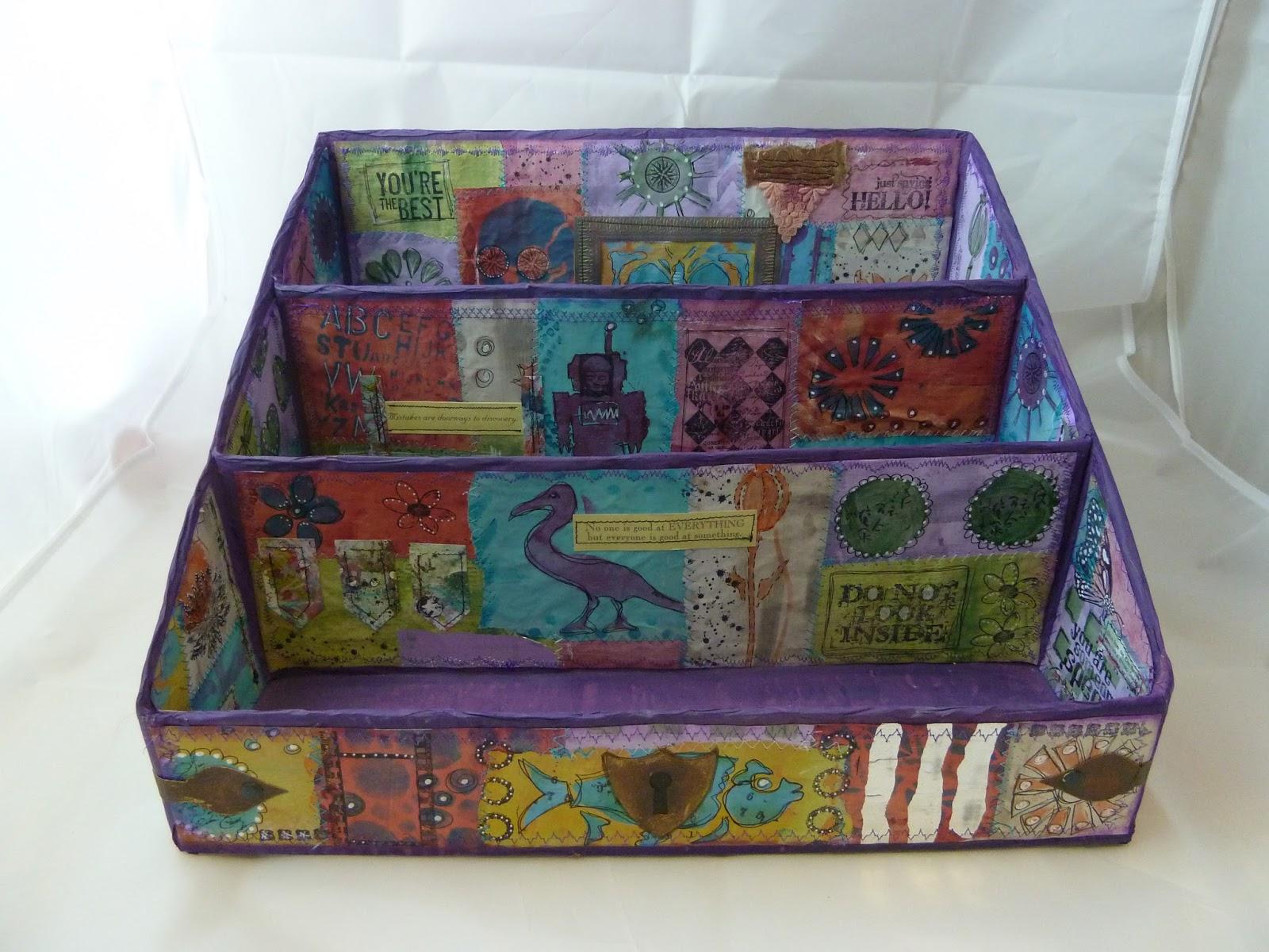 Paperartsy Darcy Wilkinson Project 3 Patchwork Storage & Wilkinson Storage Box - Listitdallas