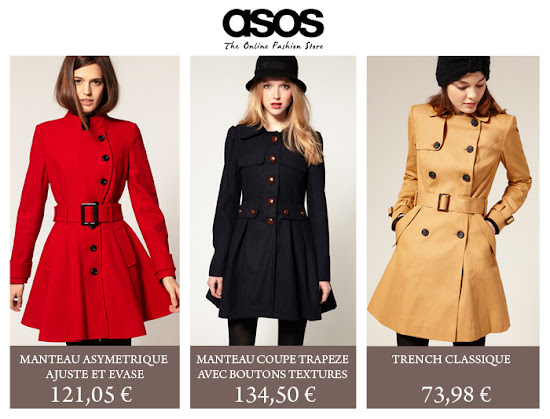Collection Manteaux Asos