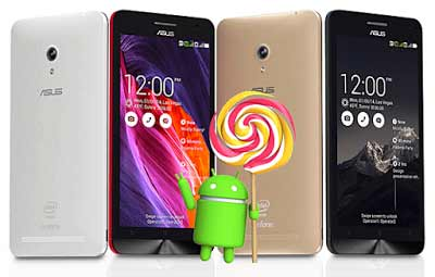 Asus Zenfone 5 Android Lollipop
