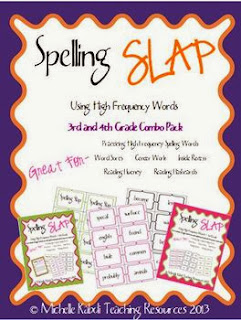 http://www.teacherspayteachers.com/Product/Spelling-Slap-3rd-and-4th-Grade-Combo-Game-Pack-High-Frequency-Words-565800