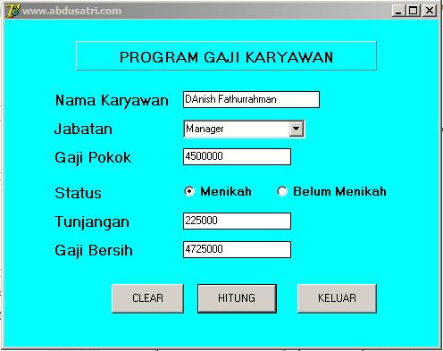 contoh program gaji dengan delphi
