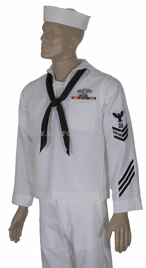 and white in the summer Navy Full Dress Uniform Enlisted