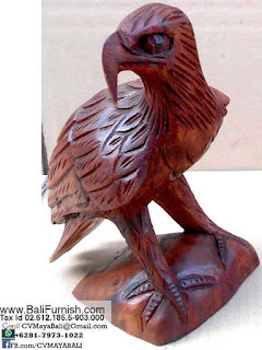 wooden eagle from Bali Indonesia
