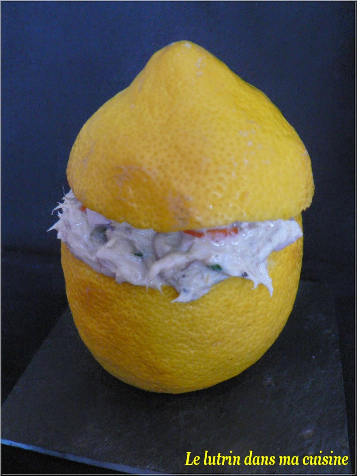 le lutrin dans ma cuisine citrons farcis aux rillettes de maquereau light