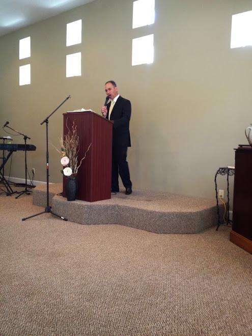 Trav preaching @ Bro & Sis Clark's
