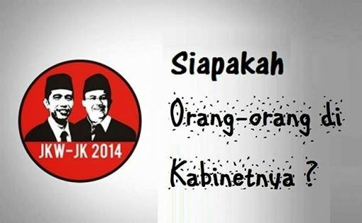 Inilah Susunan Lengkap Menteri Kabinet Jokowi-JK